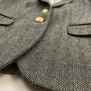 J. Crew Jackets & Coats - J. Crew Schoolboy Gray Herringbone Blazer Sz 0